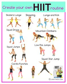 Create your own HIIT workout select a move and do this chart and for 40 seconds then mach on the spot for 10 seconds do as many as you want. These are all high impact fat burning moves and I have created a selection that engage lots of muscles groups, so not only will you burn fat fast but also tone up all over. Lucy x http://www.lwrfitness.com/high-intensity-interval-training-the-benefits-how-to-do-it-plus-a-4-minute-hiit-workout/ #hiit #training #fitness #workouts #hiitworkoutsforwomen
