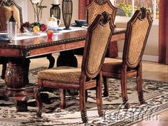 Set of 2 Dining Chairs Cherry Finish - http://www.furniturendecor.com/set-of-2-dining-chairs-cherry-finish/ - Categories:Chairs, Dining Chairs, Dining Room Furniture, Furniture, Home and Kitchen, Kitchen Furniture