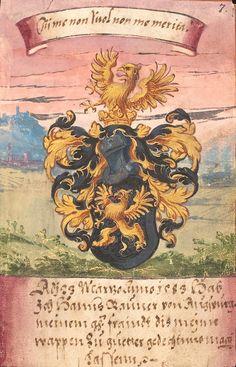 Wappen (f°7) -- «Stammbuch Daniel Prasch», Hofgastein, Augsburg, Schladming [u.a.] 1583 [Cod.Don.898].