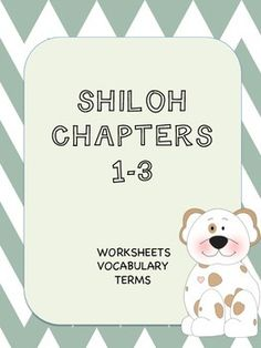 Shiloh lesson plans author phyllis reynolds naylor pinterest 14 pages of vocabulary terms and worksheets covering chapters 1 3 of the fandeluxe Image collections