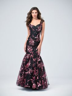 Val Stefani | Style 3205RW | Print Net Sweetheart and Scoop Back Mermaid Prom Dress