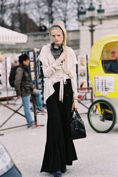 Hanne Gby Odiele after Valentino, Paris by Vanessa Jackman