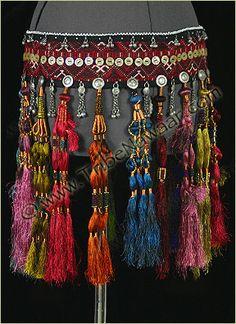 Tribe Nawaar Royal Tassels Belt Tribal Belly Dance Silk Tassel Belt A