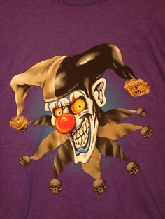 Harley Davidson - Evil Jester t-shirt - 3XL size - Big Spring Texas #HarleyDavidson #GraphicTee