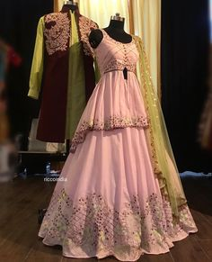 ✔ Cocktails Dress Wedding Indian Source by Indian Fashion Dresses, Indian Gowns Dresses, Dress Indian Style, Indian Designer Outfits, Indian Wear, Indian Wedding Gowns, Indian Bridal Outfits, Pakistani Bridal Dresses, Dress Wedding