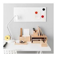 IKEA - FÖRHÖJA, Kasten 4er-Set,  , , Erleichtert das Ordnen von Kleinteilen wie Schreibmaterial, Kosmetik bis hin zum Haarschmuck.Für staubgeschützte Aufbewahrung kann die Platte als Deckel auf den großen Behälter gelegt werden.