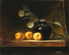 Leah Lopez :: Paintings :: Three Nectarines