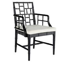 $419 - Wisteria - Chinese Chippendale Chair / Might be good to have two of something like this for pull up in either LR or FR