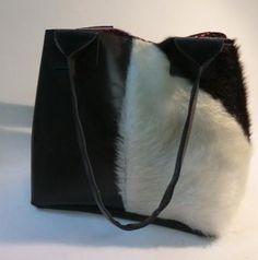 Purse - Bag - Cow Hair Bag in black and white