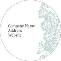 "Free Avery® Templates - Blue Flourish Design 2.5"" Round Labels, 9 per sheet"