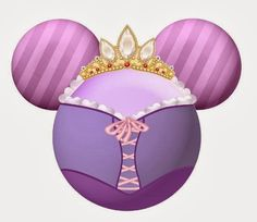 Princesas Disney en siluetas de Mickey.