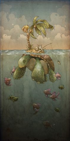 Palm Turtle | Inspiration Gallery on we heart it / visual bookmark #9483884