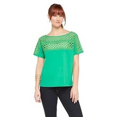 Women's Woven Eyelet Tee White L - Get substantial discounts up to 50% Off at Target with Coupons and Promo Codes.