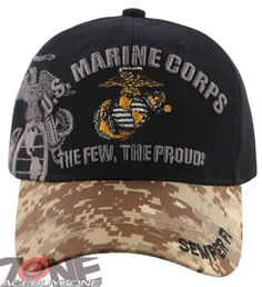 2a3cdb5df8e US Marine Corps USMC Semper Fi CAP Hat Black Camo