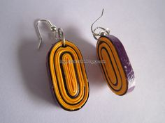 Handmade Jewelry - Paper Quilling Oval Earrings (2)