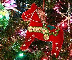 Dala horse tree ornament