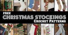 free crochet pattern, Christmas decorations, Christmas stockings,