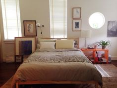 Art Filled Bedroom   Apartment Therapy