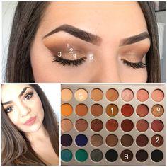 Jaclyn Hill Makeup #Morphe #JaclynHillPalette #eyeshadowsideas