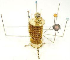 Beautiful Planetarium Brass Orrery,Solar System Model,Tellurian.Neptune,Uranus