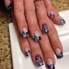 Color acrylic nails