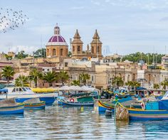 Harbor of Marsaxlokk, a traditional fishing village located in the south-eastern part of Malta | 10 Secret European Little Towns You Must Visit
