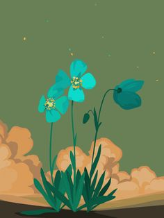 Animated gif in gifs collection by Wendy on We Heart It Art And Illustration, Animation, Gif Bonito, Flowers Gif, Gif Collection, Beautiful Gif, Beautiful Flowers, Gif Pictures, Aesthetic Gif