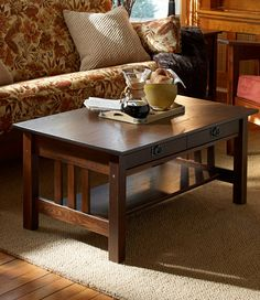 Mission Coffee Table: Coffee Tables at L.L.Bean - to go with my new sofa and chair!