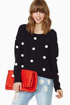 Nasty Gal Pom Bomb Sweater