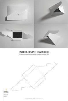 Interlocking Envelope – structural packaging design dielines
