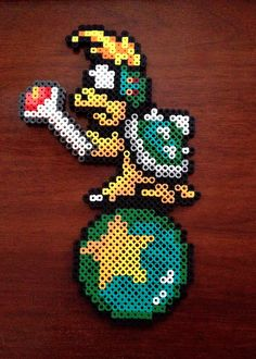 Super Mario Brothers 3 8 Bit Perler Koopaling - Lemmy Koopa via eb.perler. Click on the image to see more!