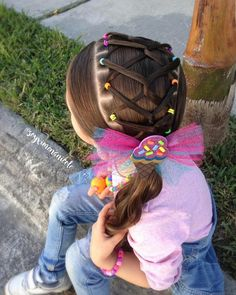 All of these hair-styles represent fairly simple and are ideal for newbies, quick and simple young one hairdos. Girl Hair Dos, Baby Girl Hair, Kids Curly Hairstyles, Little Girl Hairstyles, Braids For Kids, Girls Braids, White Girl Braids, Natural Hair Styles, Long Hair Styles