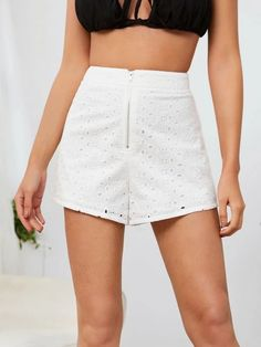 ((Affiliate Link)) Description Style:	Boho Color:	White Pattern Type:	Plain Details:	Zipper, Eyelet Embroidery Type:	Wide Leg Season:	Summer Composition:	100% Cotton Material:	Schiffy Fabric:	Non-stretch Sheer:	No Fit Type:	Loose Waist Type:	High Waist Closure Type:	Zipper Fly Belt:	No Lining:	Yes
