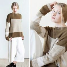 Woolfolk Blok is a new pattern by Olga Buraya-Kefelian for the Woolfolk collection. Kit includes new yarn, Sno, and Tynd. Needlework, Knitting Patterns, Knit Crochet, Kit, Pullover, Sweaters, Oregon, Collection, Dresses