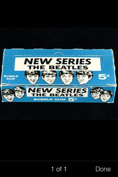 Second series - counter box for the Beatles  cards