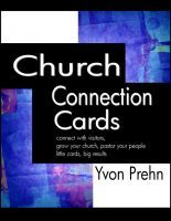 #Free - Church Connection Cards, Special Edition, connect with visitors, grow your church, pastor your people, little cards, big results