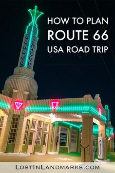 Ultimate Route 66 planning guide with all your questions answered! From itinerary planning to booking hotel and renting a car you'll find all the information and driving tips here Travel Vacation List Holiday Tour Trip Destinations Route 66 Road Trip, Road Trip Usa, Route 66 Usa, Usa Trip, Road Trip Essentials, Road Trip Hacks, Travel Guides, Travel Tips, Travel Destinations
