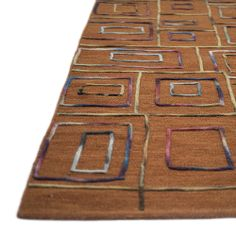 Hand-tufted Echo Rust Wool Rug (5'0 x 7'6) | Overstock.com Shopping - Great Deals on Alexander Home 5x8 - 6x9 Rugs