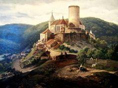 Křivoklát Castle, Czech Republic, before reconstruction by Josef Mocker Prague, Saint Georges, Anton, Czech Republic, Great Artists, Monument Valley, Cathedral, City, Castles