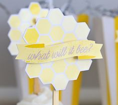 What Will It Bee Cupcakes - 3-D Paper Craft Cupcake Toppers | Kim Byers