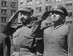 Fidel Castro and Augusto Pinochet, Santiago, 1971. Ironically, Fidel died on Pinochet's birthday | by levanrami
