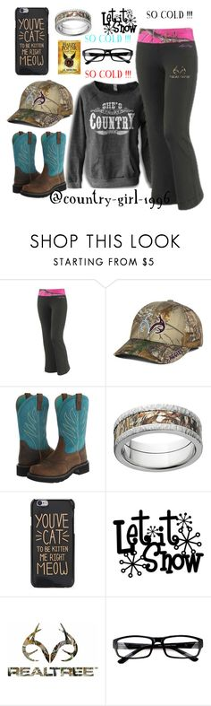 """""""LET IT SNOW !!!!"""" by country-girl-1996 ❤ liked on Polyvore featuring Realtree, Top of the World, Ariat and Mossy Oak"""