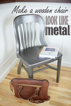 How to paint a wooden chair to look like metal #HomeRight #ModernMasters