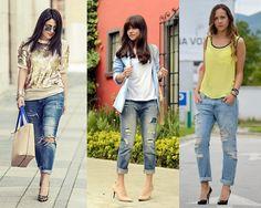 Inspiração de Looks com Calça Jeans Rasgada (Jeans destroyed) | Woman Chic