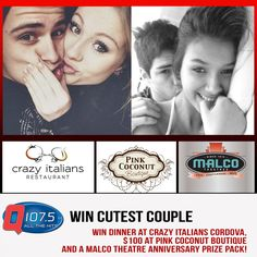 WIN Dinner $100 Pink Coconut Boutique AND a Movie at Malco!! Post your CUTEST COUPLE PIC @Q1075 Drawing on Feb 15th http://Q1075.com
