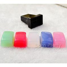 $5.96 1pc Stamp Holder & 5pcs Marshmallow Squishy Stamper Head Refill Head - BornPrettyStore.com