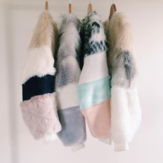 The design studio hawarden, faux fur bomber jackets