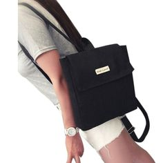 73babd1f13ec 2018 New Women Canvas Backpacks for Teenage Girls School Bags Solid Backpack  Female Travel Bag Mochila Rucksack School Supplies