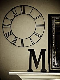 Large wall clock decal kit with working hands and mechanism pb knock off clock face solutioingenieria Image collections