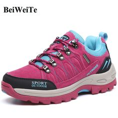 BeiWeiTe Autumn Women Trail Hiking Shoes Women Antiskid Tourism Outdoor Shoes Walking Trail Trekking Sports Stylish Sneakers